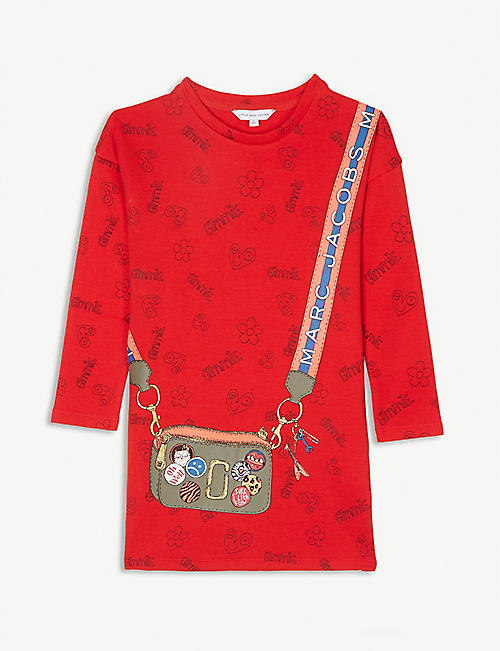 LITTLE MARC Bag print cotton dress 4-14 years