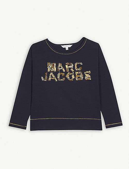 LITTLE MARC Beaded logo T-shirt 4-14 years