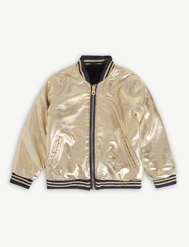 31036ef3a Metallic bomber jacket 4-14 years