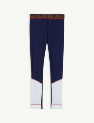 FENDI Logo ruffled lycra leggings 4-14 years