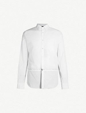 ALEXANDER MCQUEEN Zip-through cotton-poplin shirt