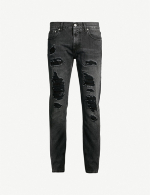 ALEXANDER MCQUEEN Ripped slim-fit skinny jeans