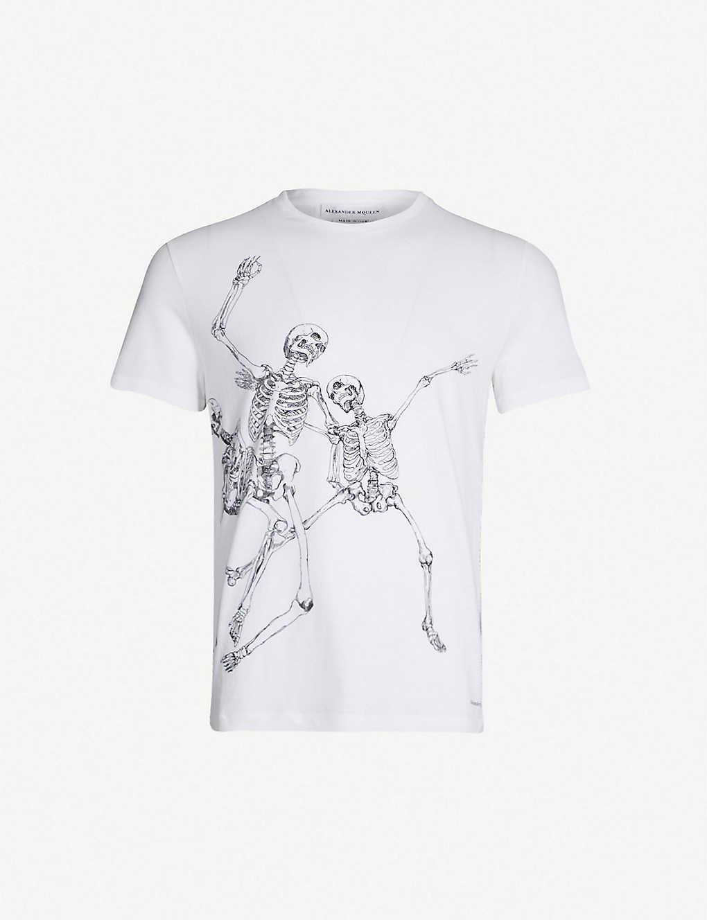 0d69b07a ALEXANDER MCQUEEN - Dancing Skeleton-print cotton-jersey T-shirt ...