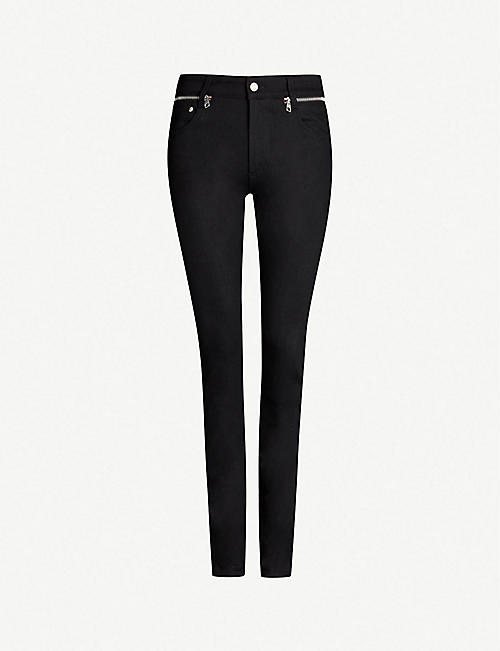 ALEXANDER MCQUEEN Zip-embellished regular-fit skinny jeans