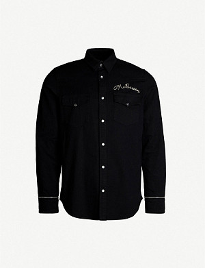 ALEXANDER MCQUEEN McQueen-embroidered denim shirt