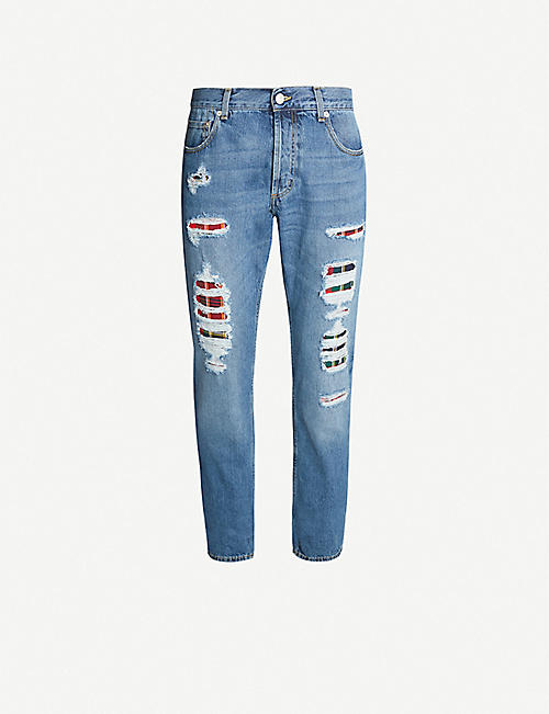 ALEXANDER MCQUEEN Distressed straight jeans