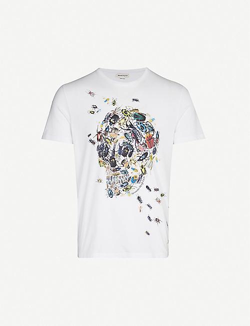 e8063e9c ALEXANDER MCQUEEN Beetle skull-print cotton-jersey T-shirt