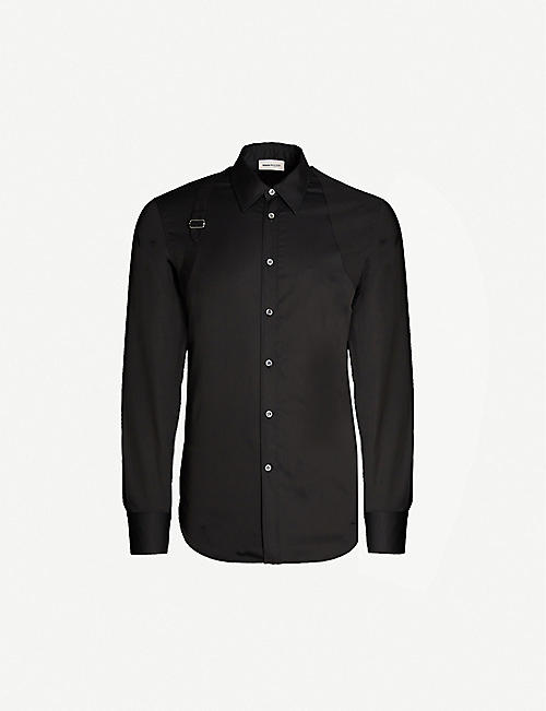 ALEXANDER MCQUEEN Harness-embellished regular-fit cotton shirt