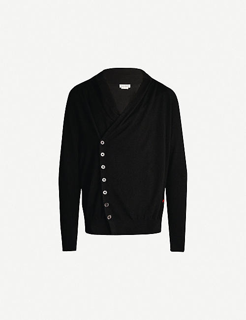 c4e6274c06a8f0 ALEXANDER MCQUEEN Brand-embroidered cashmere cardigan