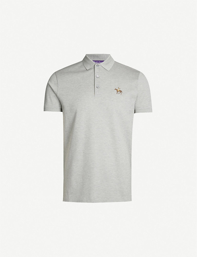 Polo Cotton Piqué Custom Shirt Fit 3RjLS5A4cq