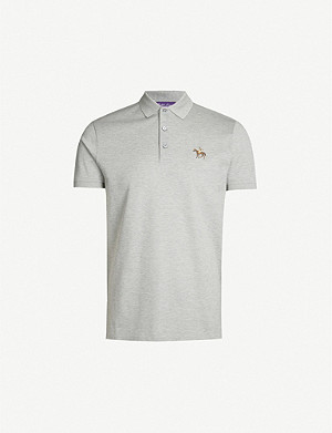 RALPH LAUREN PURPLE LABEL Custom-fit cotton-piqué polo shirt