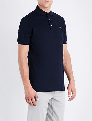 RALPH LAUREN PURPLE LABEL Logo cotton polo-piqué shirt