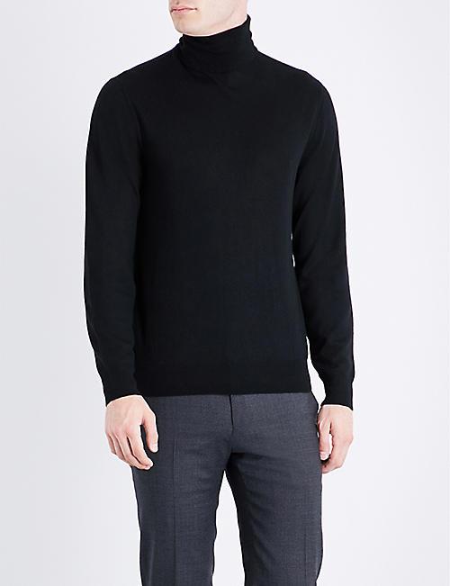 95147fe4 RALPH LAUREN PURPLE LABEL Turtleneck fine-knit cashmere jumper