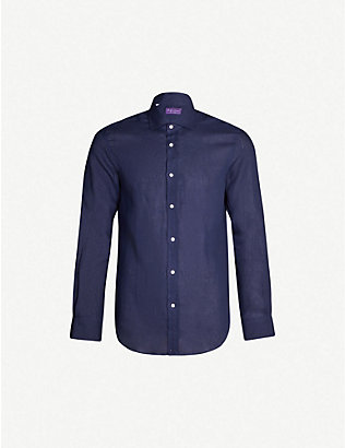 RALPH LAUREN PURPLE LABEL: Regular-fit linen shirt