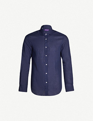 RALPH LAUREN PURPLE LABEL Regular-fit linen shirt
