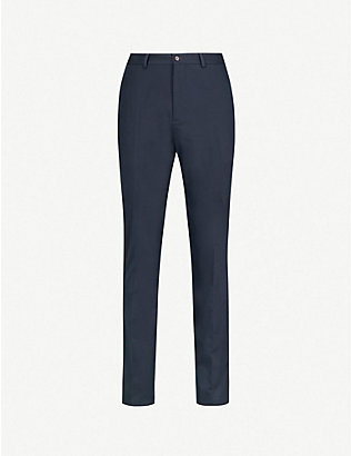 RALPH LAUREN PURPLE LABEL: Knightsbridge slim-fit straight stretch-cotton chinos