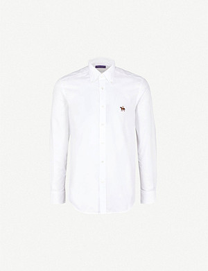 RALPH LAUREN PURPLE LABEL Pony-embroidered regular-fit cotton shirt