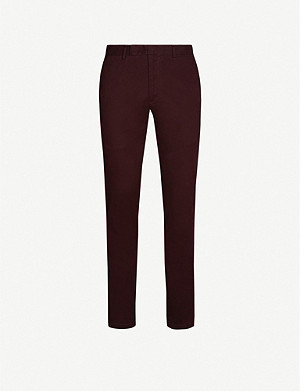 RALPH LAUREN PURPLE LABEL Eaton regular-fit straight-leg stretch-cotton trousers