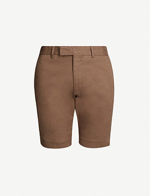 RALPH LAUREN PURPLE LABEL Eaton slim-fit stretch-cotton shorts