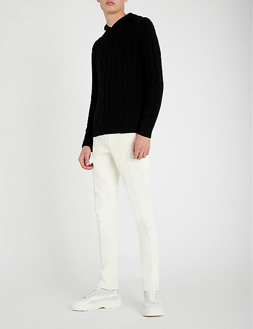 POLO RALPH LAUREN Cable-knit cashmere hoody