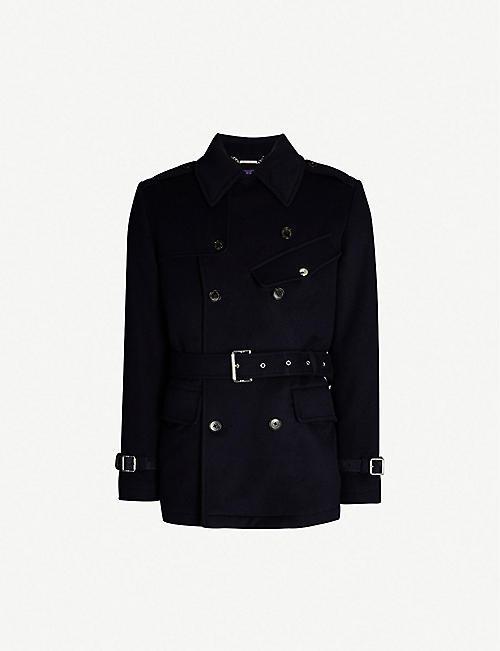 5134b5e8ceda RALPH LAUREN PURPLE LABEL Irvinestown double-breasted wool coat