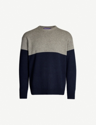 RALPH LAUREN PURPLE LABEL Block-colour cashmere jumper