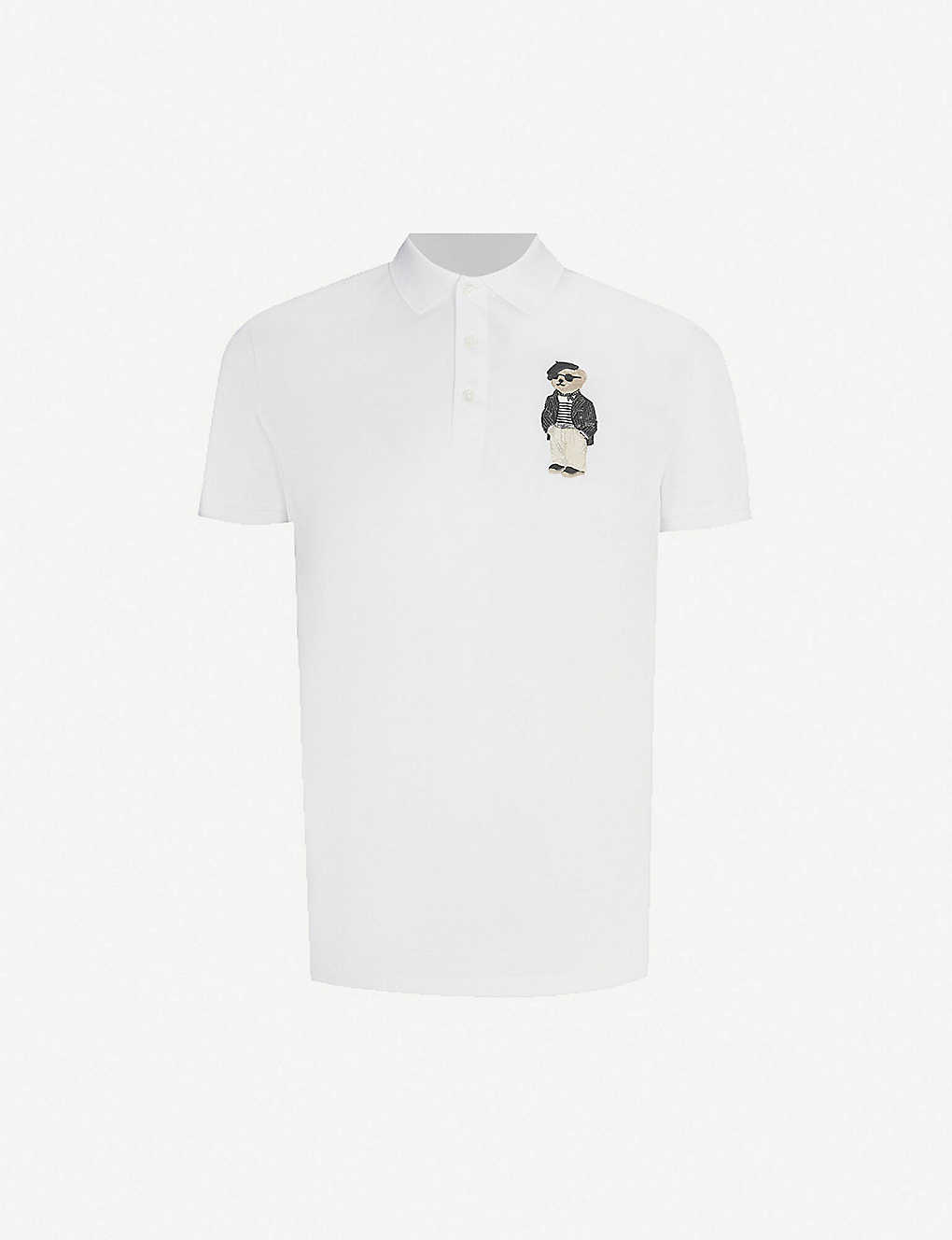 ed39ad85a RALPH LAUREN PURPLE LABEL - Polo Bear cotton-piqué polo shirt ...