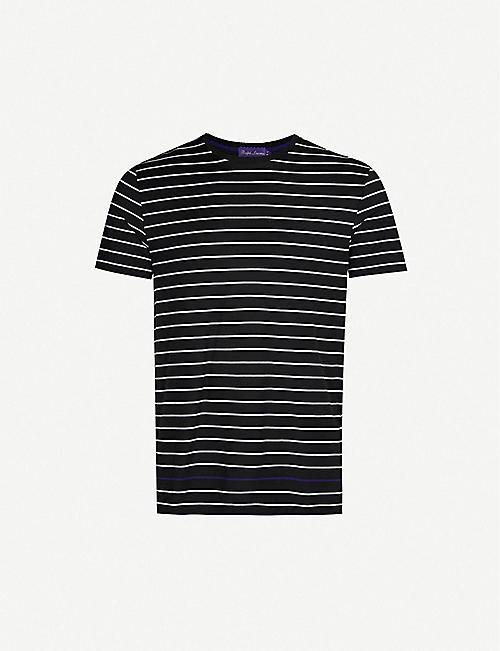 2e938af17ae04a RALPH LAUREN PURPLE LABEL Striped cotton-jersey T-shirt