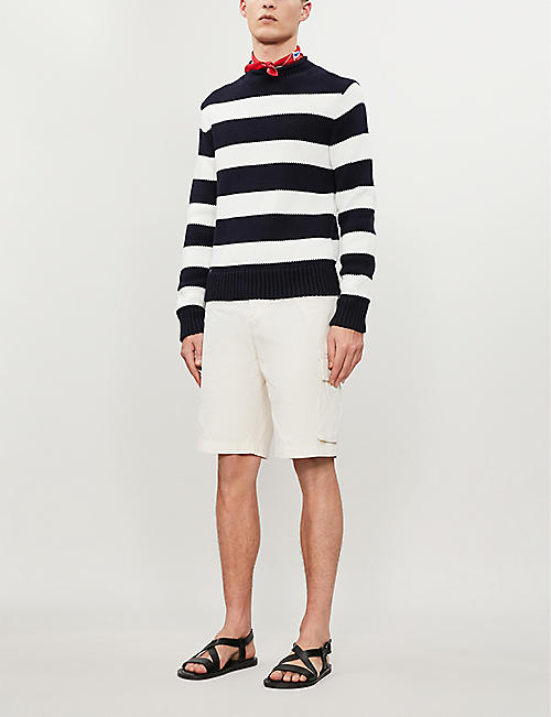 RALPH LAUREN PURPLE LABEL Striped cotton-cashmere jumper