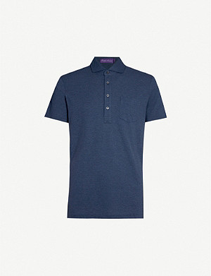 RALPH LAUREN PURPLE LABEL Patch-pocket cotton-piqué polo shirt
