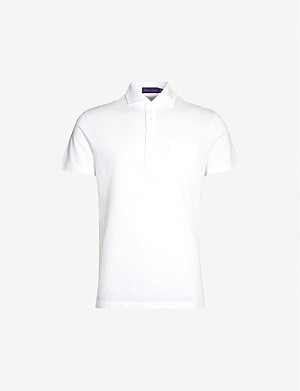 RALPH LAUREN PURPLE LABEL 珠地棉 Polo 衫