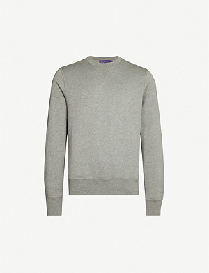 RALPH LAUREN PURPLE LABEL Crewneck jersey sweatshirt