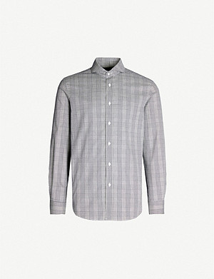 RALPH LAUREN PURPLE LABEL Keank regular-fit stretch-cotton shirt