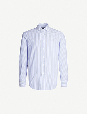 RALPH LAUREN PURPLE LABEL Striped regular-fit cotton shirt