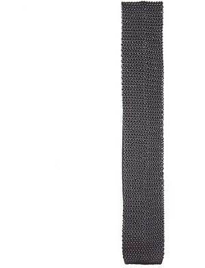 RALPH LAUREN PURPLE LABEL Square-end knitted silk tie