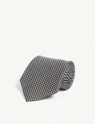 RALPH LAUREN PURPLE LABEL Houndstooth 丝质领带