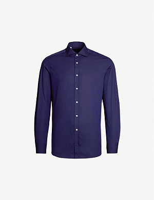 RALPH LAUREN PURPLE LABEL Tailored-fit cotton-blend dress shirt