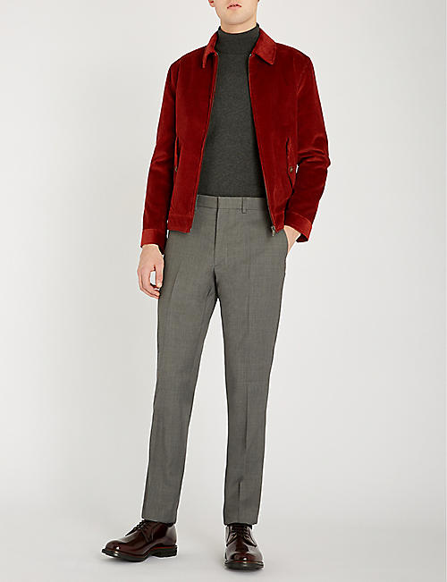 RALPH LAUREN PURPLE LABEL Regular-fit wool tapered trousers