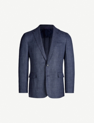 RALPH LAUREN PURPLE LABEL Slim-fit wool, silk and linen blend jacket