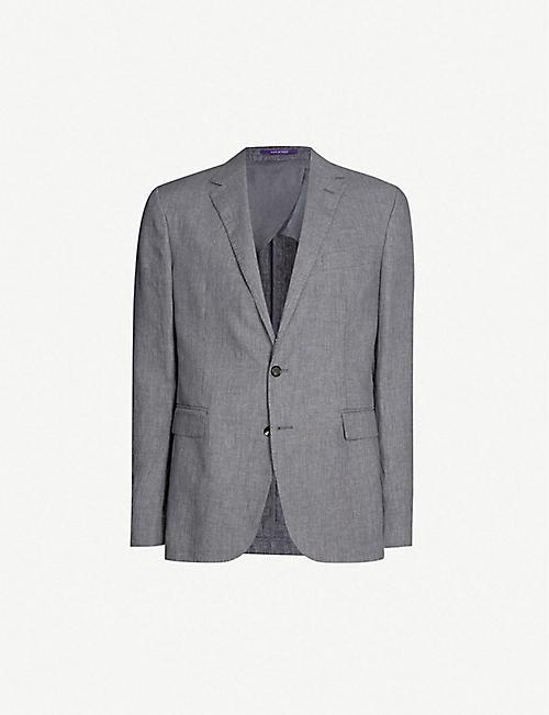 1914fe6252e52 RALPH LAUREN PURPLE LABEL Hadley regular-fit linen blazer