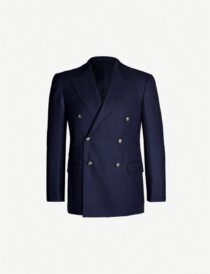 RALPH LAUREN PURPLE LABEL Slim-fit double-breasted cashmere jacket