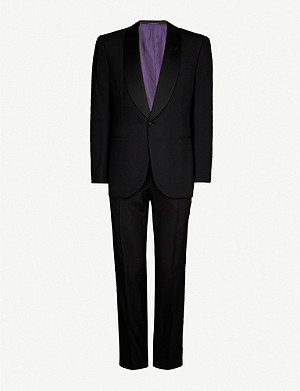 RALPH LAUREN PURPLE LABEL Shawl-collar regular-fit wool tuxedo