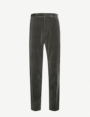 RALPH LAUREN PURPLE LABEL Regular-fit straight velvet trousers