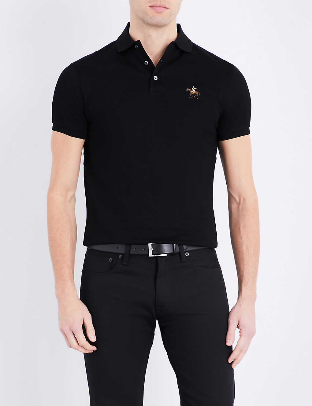 d932de45d RALPH LAUREN PURPLE LABEL - Custom-fit cotton-piqué polo shirt ...