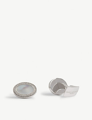 DEAKIN AND FRANCIS Oval cufflinks with Mother of Pearl
