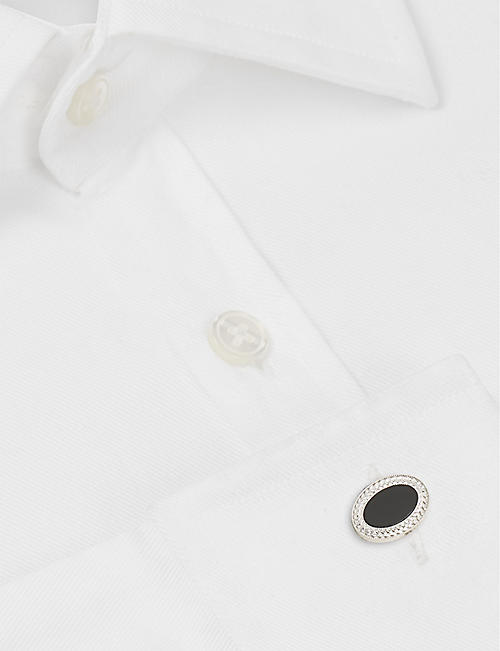DEAKIN AND FRANCIS Oval cufflinks with onyx