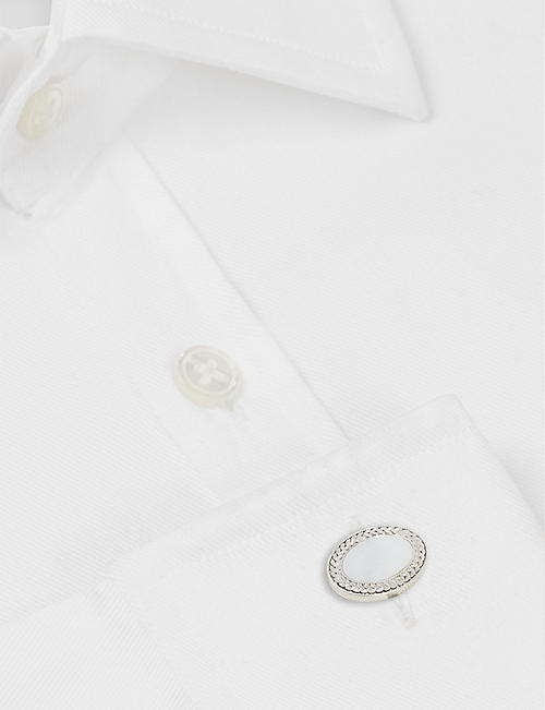 DEAKIN AND FRANCIS Oval cufflinks and shirt studs set