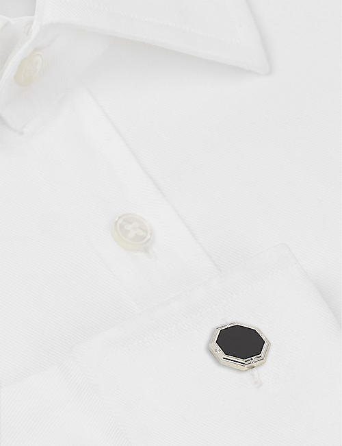 DEAKIN AND FRANCIS Octagonal cufflinks and shirt studs set
