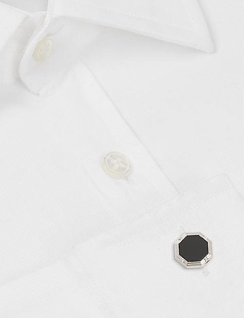 DEAKIN AND FRANCIS Octagonal cufflinks with onyx