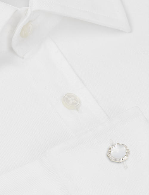 DEAKIN AND FRANCIS Octagonal cufflinks with Mother of Pearl